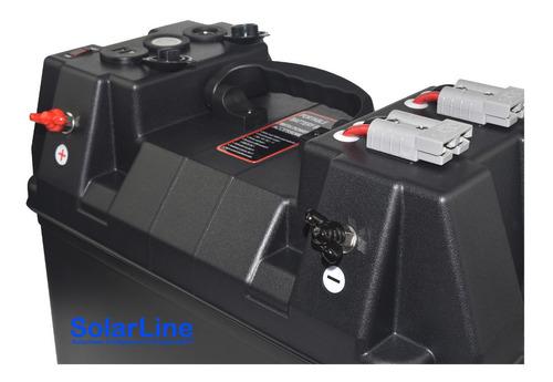 Imagen 1 de 4 de Gabinete P/ Batería 12v Voltimetro Usb Entrada Panel Solar