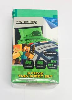 Sabanas Minecraft Juego De 3 Piezas
