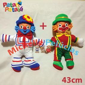 2 Bonecos Patati Patata 43cm Novos