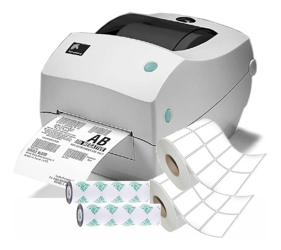 Kit Impressora De Etiquetas Zebra Gc420t C/ Etiquetas
