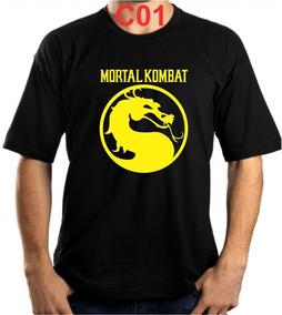 Camiseta Mortal Kombat Game Luta Baby Look Ps4 Várias Cores