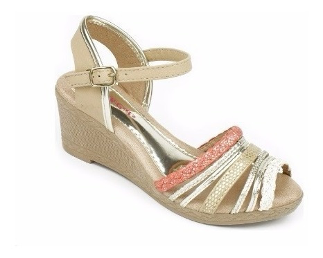 Sandália Infantil Anabela Pinkcats W8724 - Maico Shoes