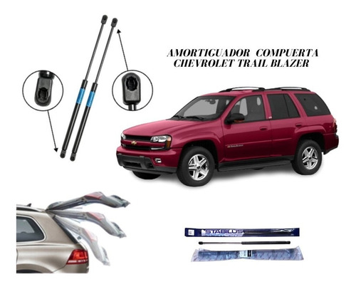 Amortiguador Compuerta Trasera Chevrolet Trailblazer 2002-07