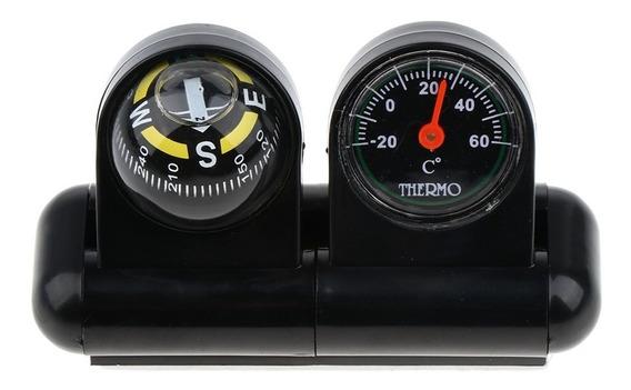 2 Em 1 Bússola Carro Removível E Termômetro Adesivo Van Cami