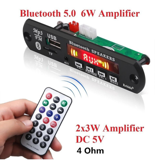 Decodificador Amplificado Estéreo 3w Fn Mp3 Bluetooth 4.0