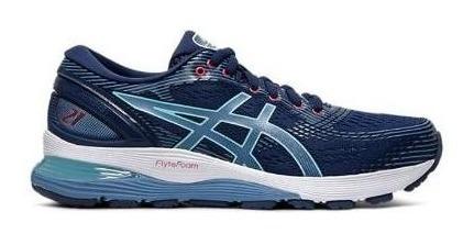 Zapatillas Asics Gel Nimbus 21 Mujer Azul Running