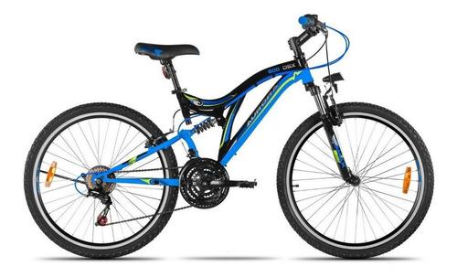 Mountain bike Aurora MTB 600 DSX R26 18v frenos v-brakes cambio Shimano Tourney TZ color azul/negro