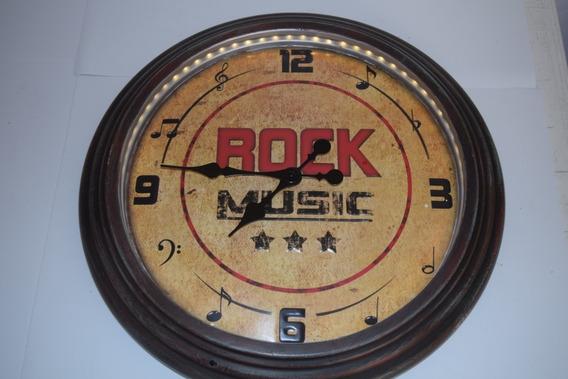 Reloj Rock Music Con Luz, Retro.
