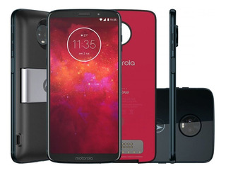 Smartphone Moto Z3 Play Power Pack Dtv Edition 64gb Indigo