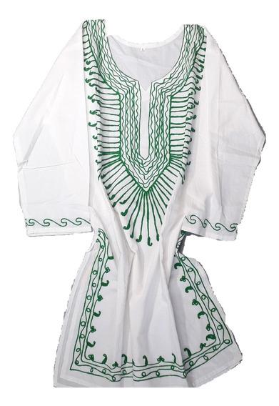 Túnica Vestido Mujer Estilo Hindú Bordada Sar T1182