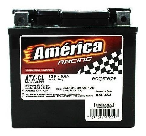 Bateria De Moto América Racing - 5ah Atx-cl - Selada