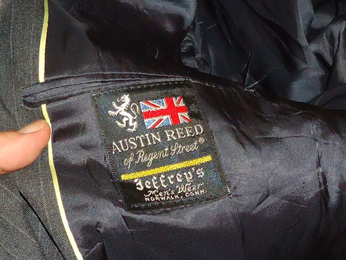 Saco Ingles Austin Reed Gris Oxford Con Rayas Nuevo T 44 Mercado Libre
