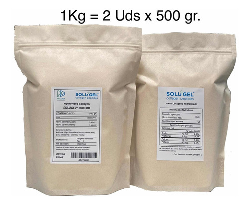 Colageno Hidrolizado 100% X 1 Kg - Unidad a $43950