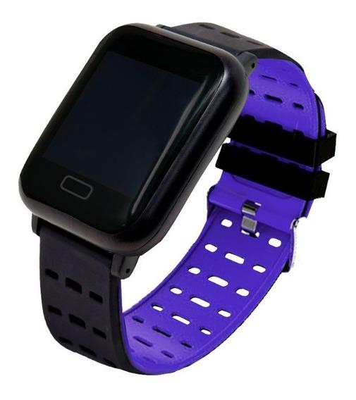 Smartwatch Sport Touch Bluetooth Celular Necnon K-3t Azul