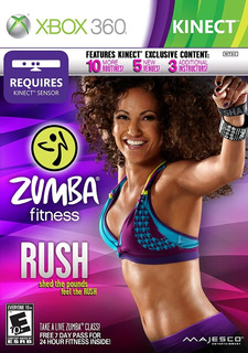 Zumba Fitness Rush Fisico Nuevo Kinect Xbox 360 Dakmor