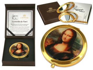 Espejo Tapa Superior En Cristal Mona Lisa Da Vinci