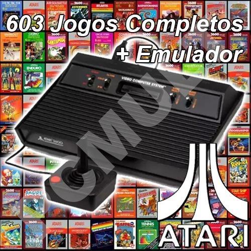Jogos Atari P/ Pc 603 Jogos Completos + Emulador