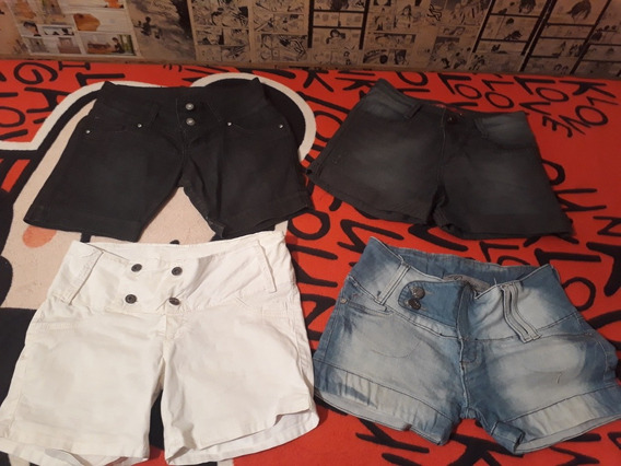4 Shortes Jeans T: 36 Por 40 Reais