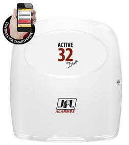 Central De Alarme Monitorável Active 32 Duo S/teclado Jfl