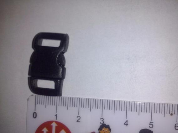 Fecho Rápido Curvo 10mm Preto P/pulseira Paracord 100 Und