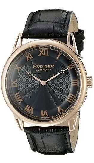 Rudiger R2800-09-007 Ulm Analogico Pantalla Reloj De Cuarzo