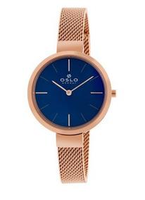 Relógio Oslo Ofrsss9t0001 D1rx Slim Rose Original