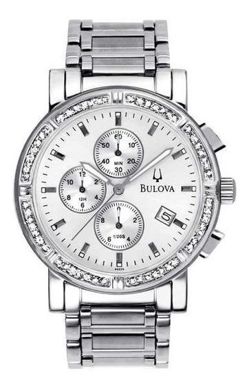Relógio Bulova Feminino Com Diamantes Cronógrafo Wb21418q Lc