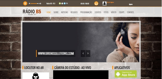 Site Web Rádio Responsivo + Streaming Completo R$ 200/anual