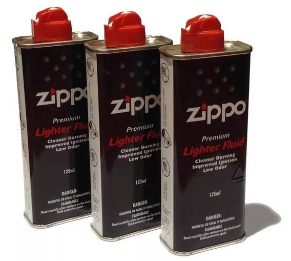 Combo 3 Fluido Bencina Zippo Original X 125ml Made In Usa