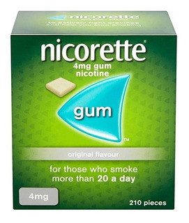 Nicorette Gum 210 Chicle Nicotina Orig 4mg Dejar De Fumar