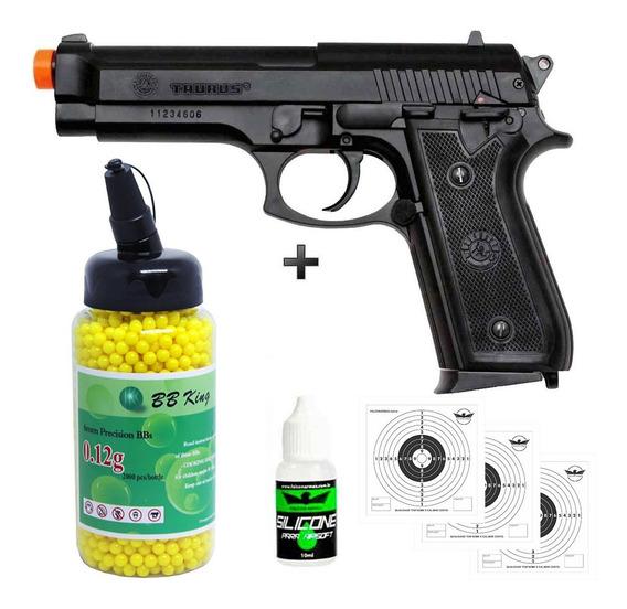 Pistola Airsoft Cybergun Taurus Pt 92 + 2000bb + Oleo + Alvo