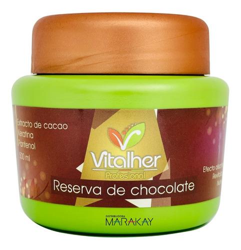 Reserva De Chocolate Con Efecto Alisante Vitalher 500ml
