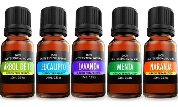 Kit De 5 Aceites Esenciales Para Difusor Y Aromaterapia