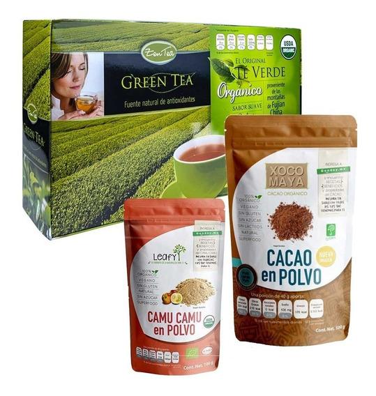 Te Verde Orgánico + Superfoods Camu Camu + Cacao Orgánico