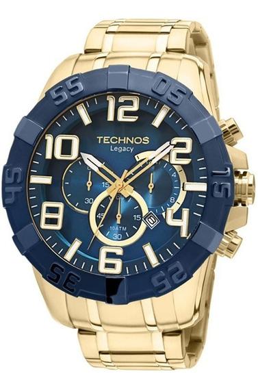 Relógio Technos Dourado Masculino Classic Legacy Os20iq/4a