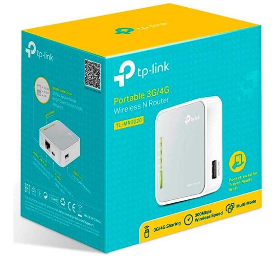 Router Tp-link Tl-mr3020 Portatil 3g 4g Wisp Wifi Red