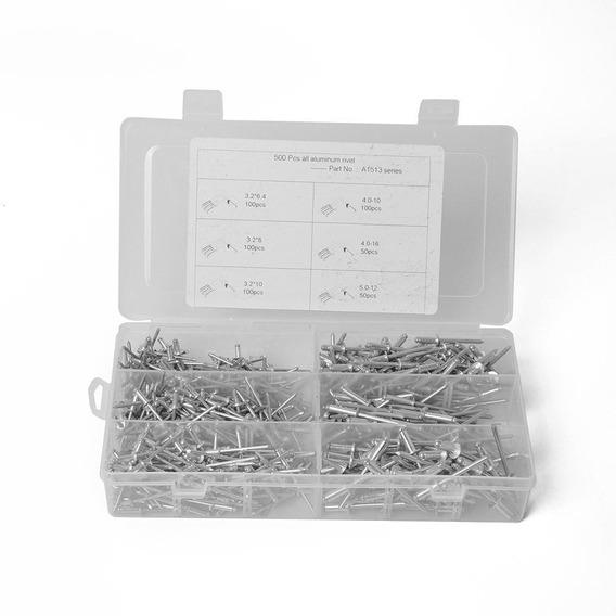 500pcs/box Alumínio Cego Rebites Decoração Variedade Kit