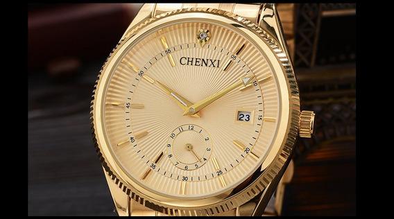 Relógio Chenxi Femenino Dourado
