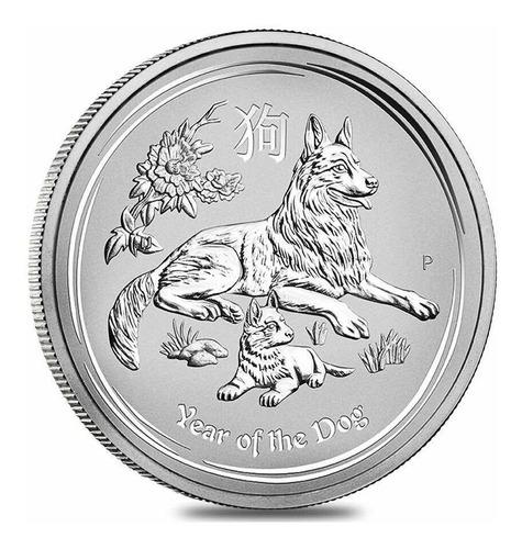 Moneda De Plata Colección De Australia Fauna Año Del Perro