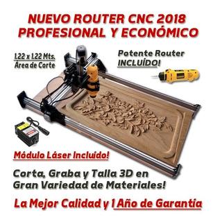 Router Cnc Armado 122x122 Con Laser Cortador Madera Acrilico