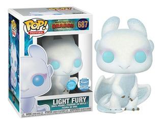 Light Fury Furia Luminosa Glitter Exclusive Funko Pop
