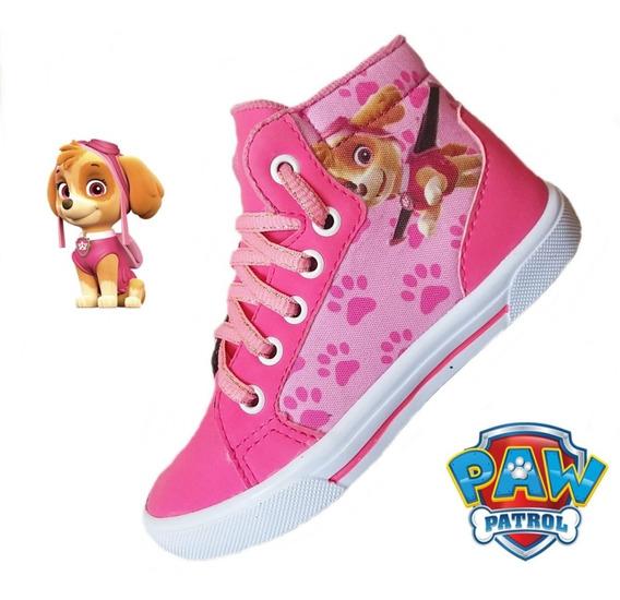 Tênis Infantil Botinha Skye Patrulha Canina Chase 24 Ao 33