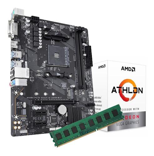 Imagen 1 de 5 de Combo Actualizacion Athlon 3000g + Mother A320 + Ddr4 16gb P