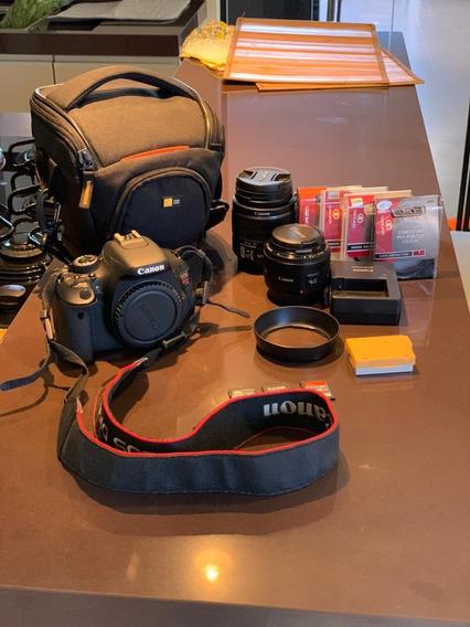 Kit Câmera Canon T3i + Lente 50mm + Filtros E Acessórios