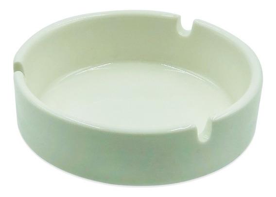 Cenicero De Porcelana Blanca 10cm Ideal Para Gastronomia