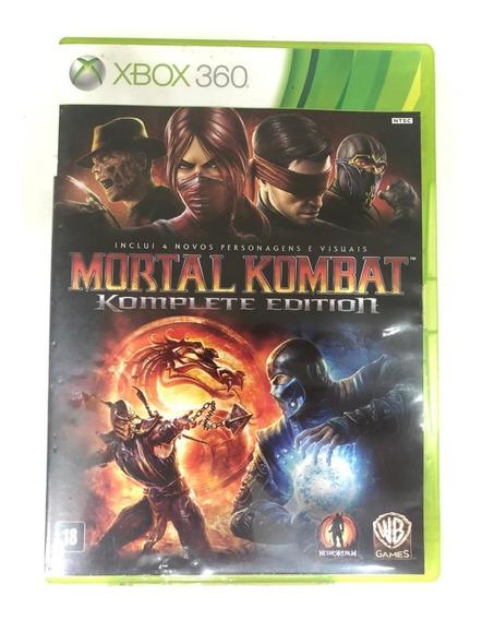 Game Xbox 360 Mortal Kombat Komplete Edition - Usado Bom