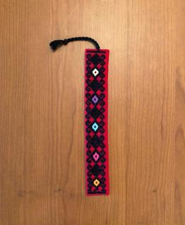 Separador De Libro Telar De Cintura Bordado A Mano / Chiapas