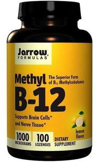 Vitamina Methyl B-12 Sublingual-100 Tabletes-importada Eua