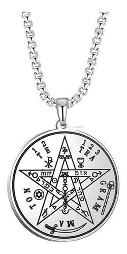 Tetragramaton Acero  + Cadena Premium - Original - Exclusivo
