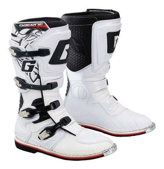 Botas Gaerne Gx1 Goodyear Enduro Motocross Italiana Blanca